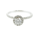 Fire and Ice Signature Series Canadian Diamond Halo Engagement Ring