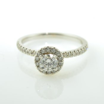 Signature Series Canadian Diamond Halo Engagement Ring