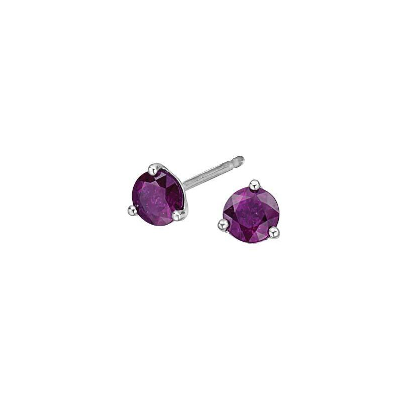 Corona Amethyst Birthstone Earrings