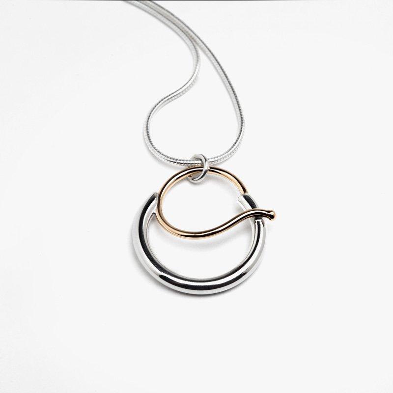 Constantine Designs Two-Tone Gratitude Necklace (Small)
