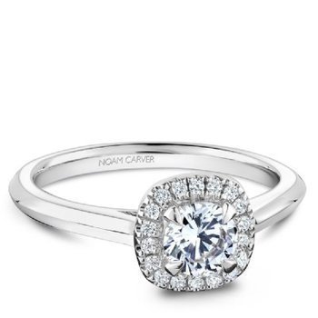 0.50CT Halo Engagement Ring