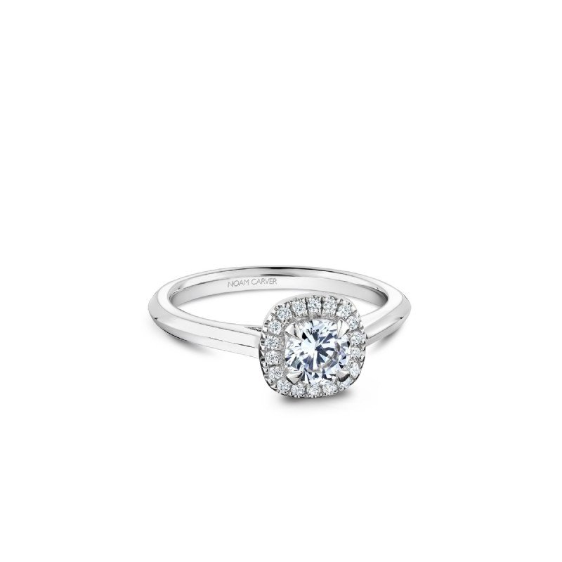 Noam Carver 0.50CT Halo Engagement Ring