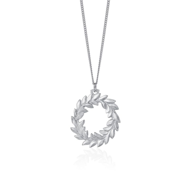 Amos Pewter Wreath Necklace