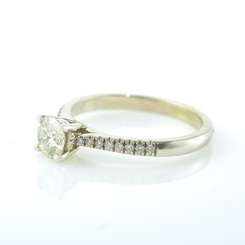 0.50CT Side-Stone Solitaire Engagement Ring