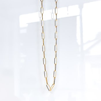 """10K Yellow Gold Paperclip Chain (20"""")"""