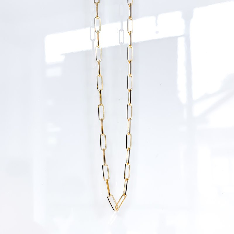 "Tecimer & Johns 10K Yellow Gold Paperclip Chain (20"")"