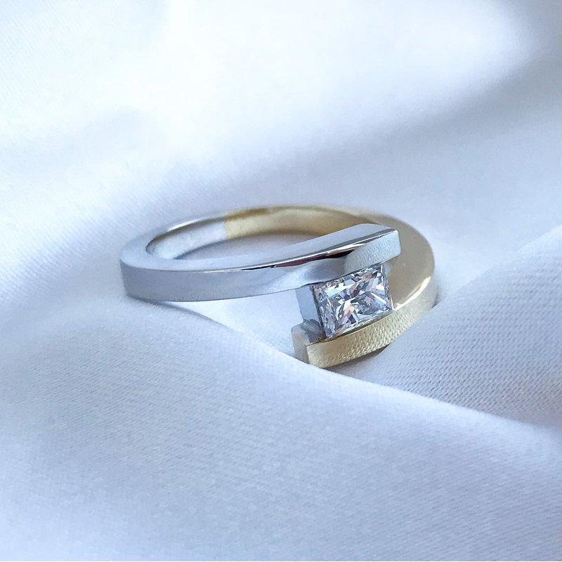 HJ Diamond Collection Tension Set Solitaire Engagement Ring