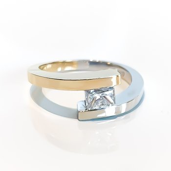 0.68CT Modern Solitaire Engagement Ring