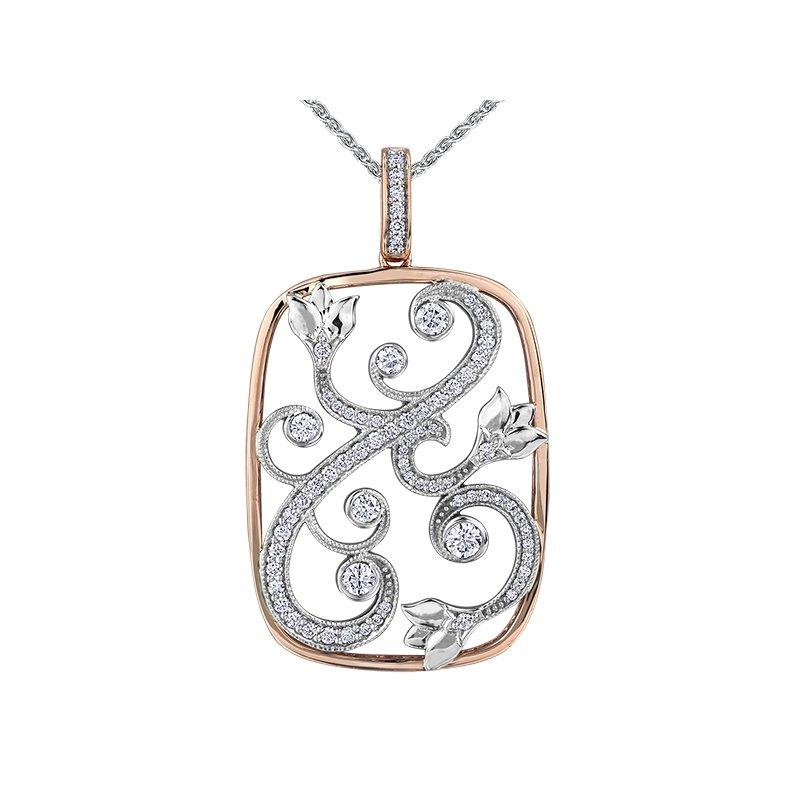 Corona Floral Canadian Diamond Pendant