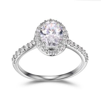 Sterling Silver Oval Diamondlite Ring