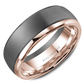 Tantalum & Rose Gold Wedding Band