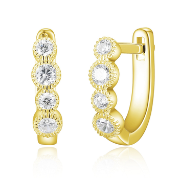 Yellow Gold Plated Hoop Earrings