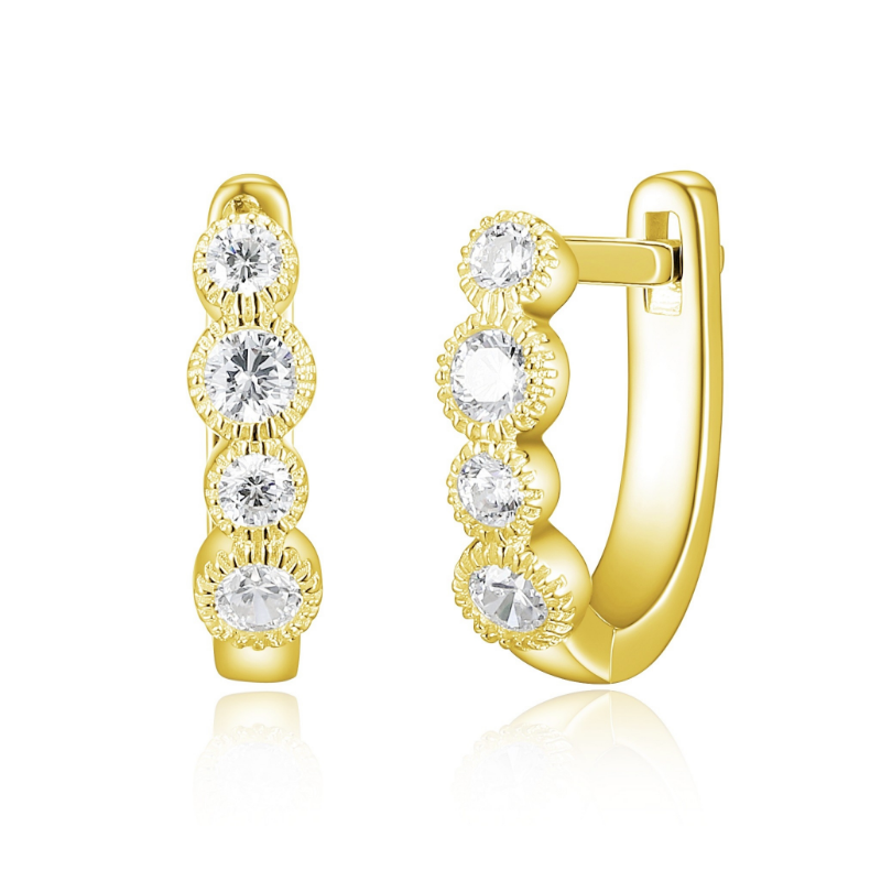 Reign Yellow Gold Plated Hoop Earrings