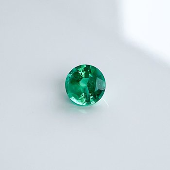 0.77CT Loose Round Emerald Gemstone