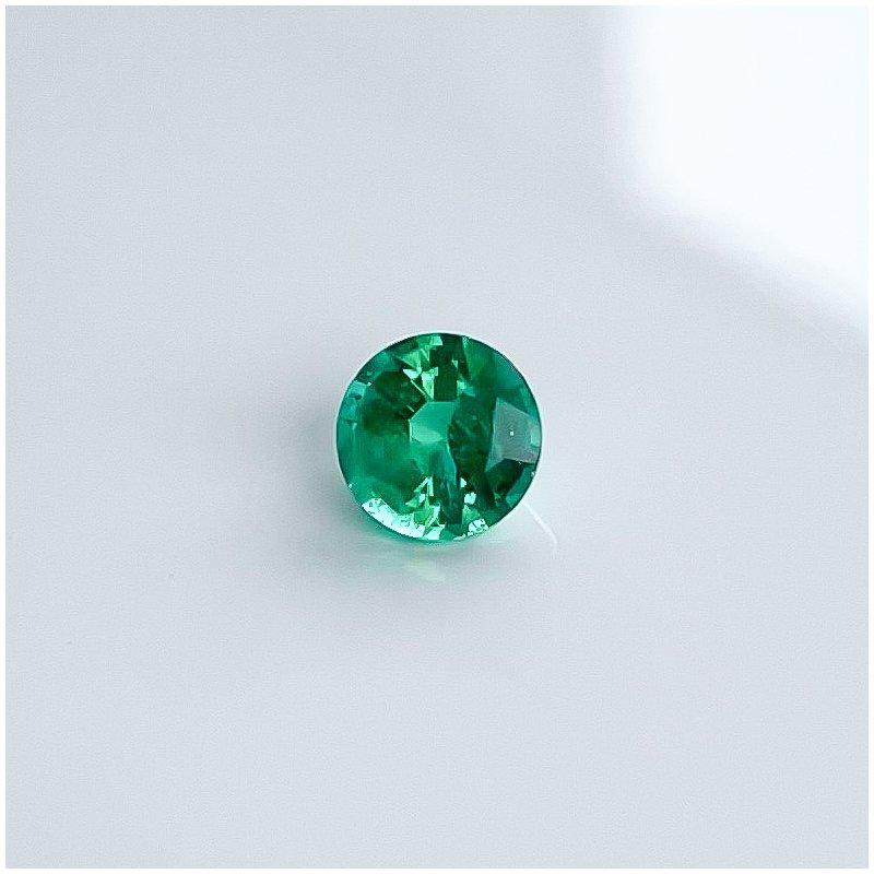 HJ Gemstone Collection 0.77CT Loose Round Emerald Gemstone