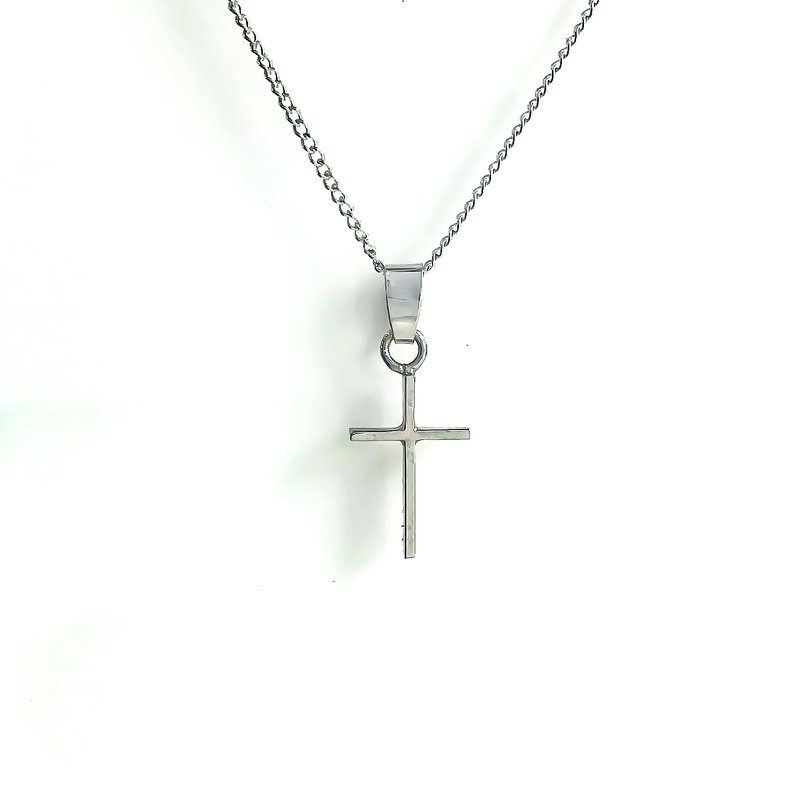 Cadman Manufacturing Co. Sterling Silver Cross Necklace