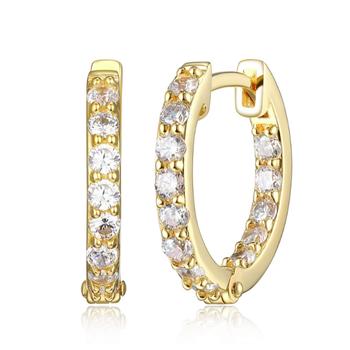 Gold Plated Fancy Hoop Earrings