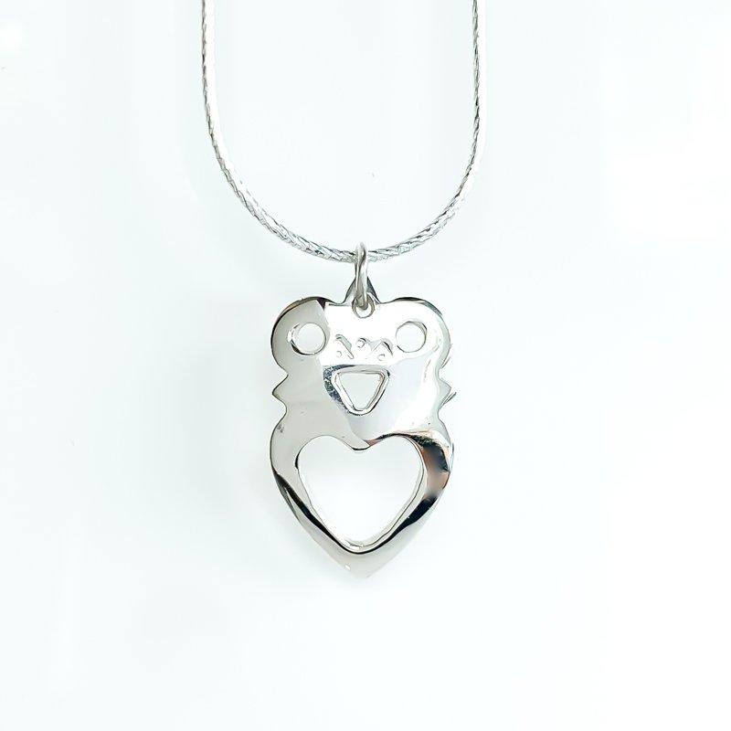"Sapling & Flint Crowned Heart Necklace (20"")"