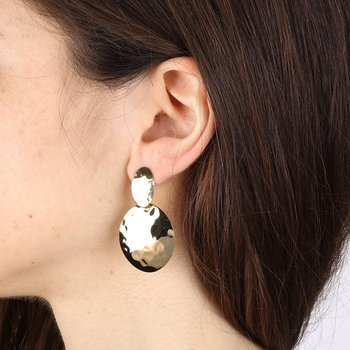 Mirage Effect Circular Earrings