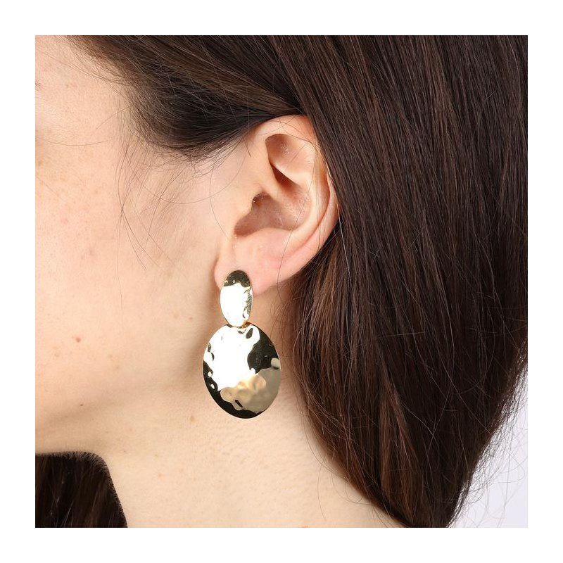 Etrusca Gioielli Mirage Effect Circular Earrings
