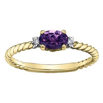 Amethyst Birthstone Ring
