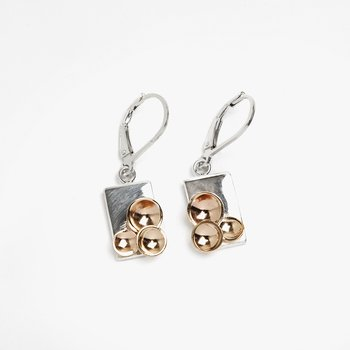 Two-Tone Champagne Drop Earrings