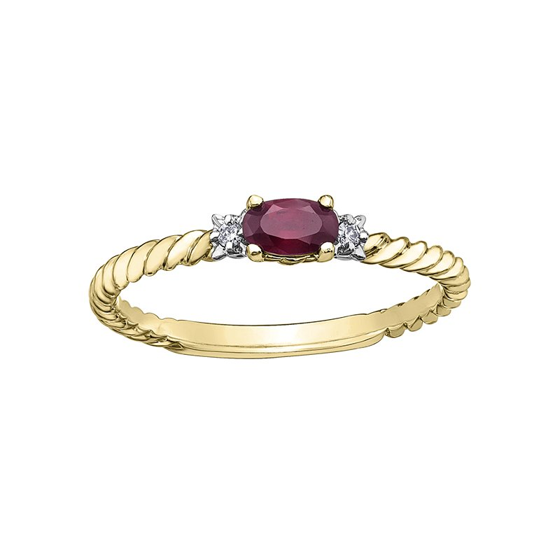 Corona Ruby Birthstone Ring