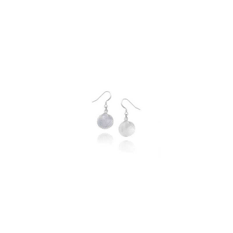Amos Pewter Scallop Earrings
