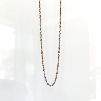 "Tri-Tone Gold Singapore Chain (16"")"