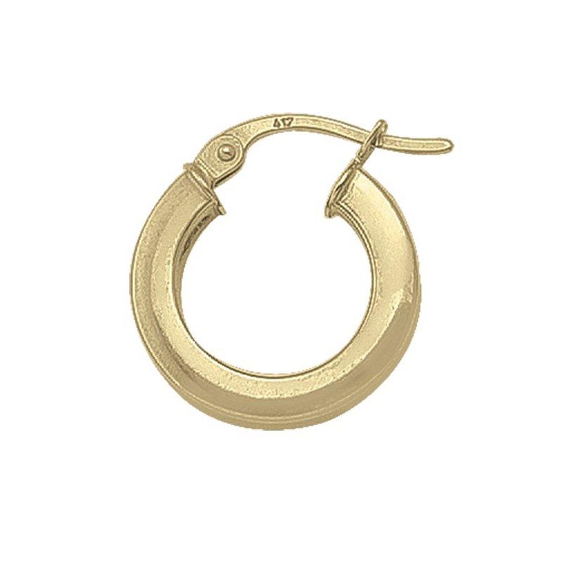 Tecimer & Johns Plain Square Hoop Earrings (15mm)
