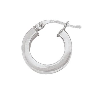 Plain Square Hoop Earrings (15mm)