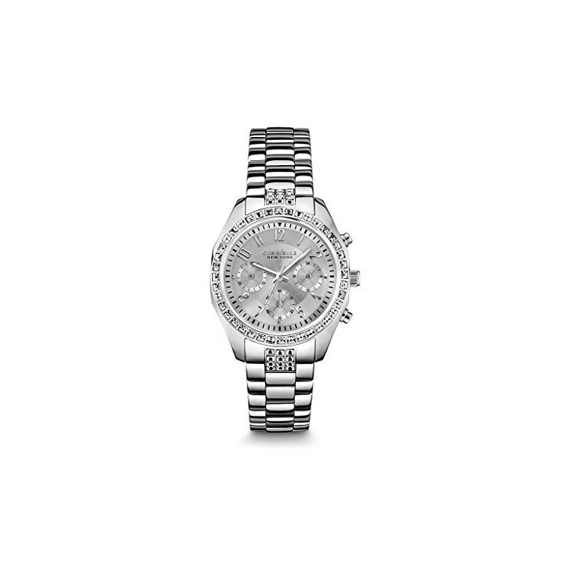Caravelle Crystal Chronograph Watch