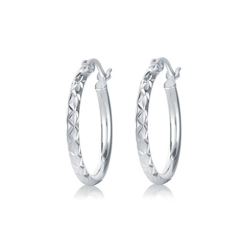 Larus Diamond Cut Hoop Earrings