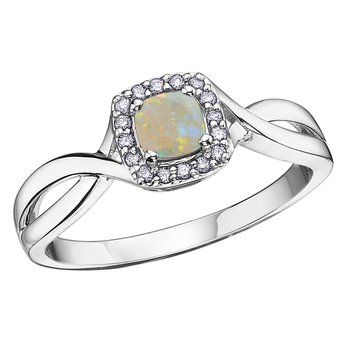 Opal Birthstone Ring
