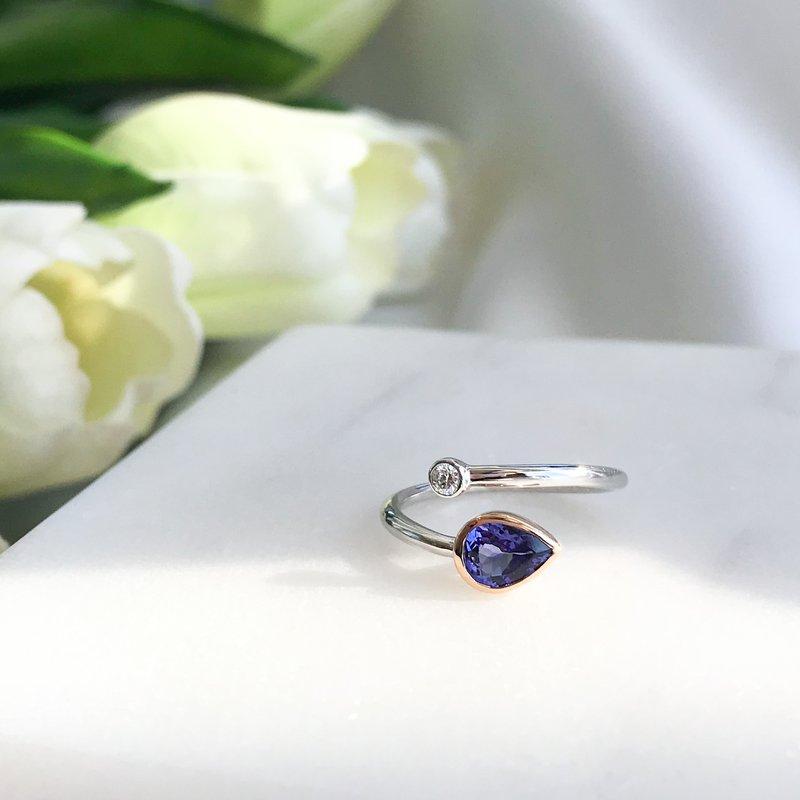 HJ Gemstone Collection Tanzanite & Diamond Ring