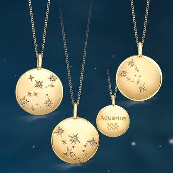 Zodiac Medallion Necklace *Reversible*