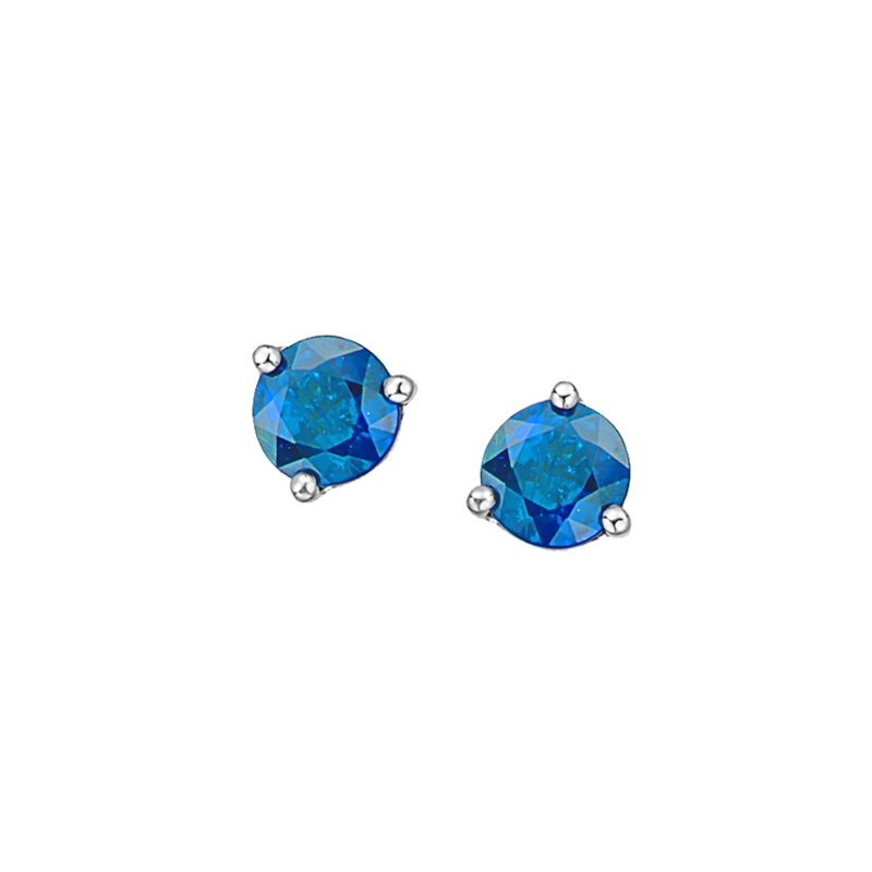 Corona Blue Topaz Birthstone Earrings