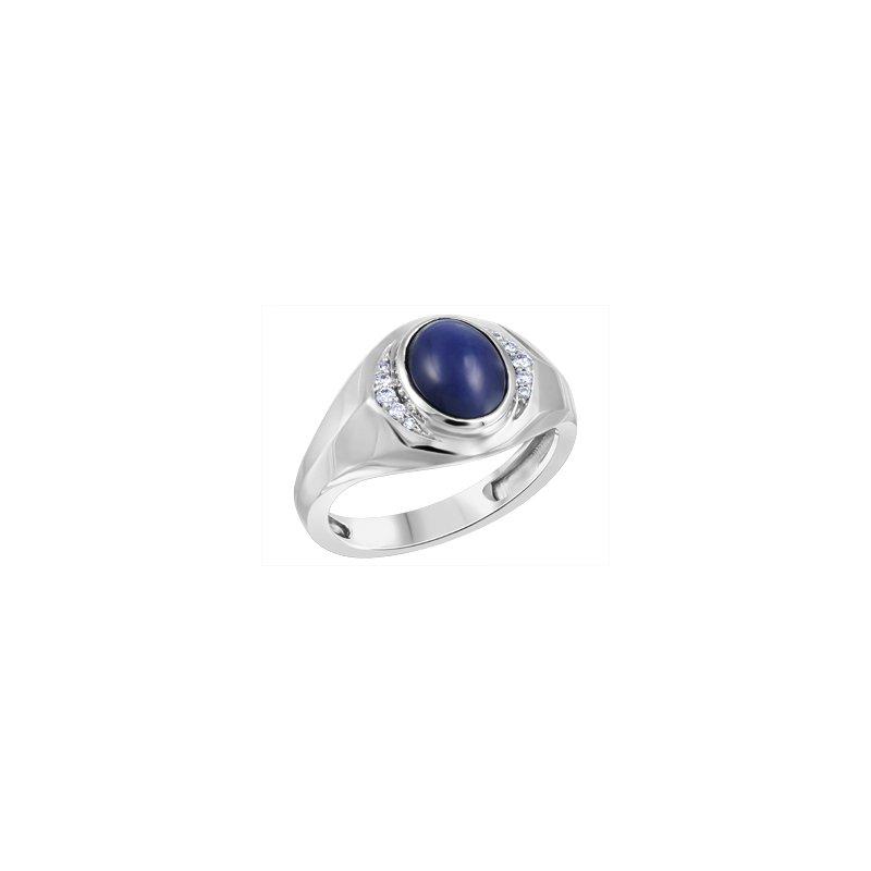 Forever Ice Star Sapphire Men's Ring