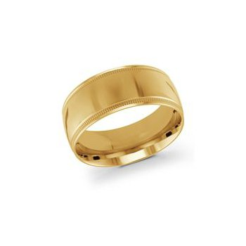 Gold Milgrain Band (10mm)