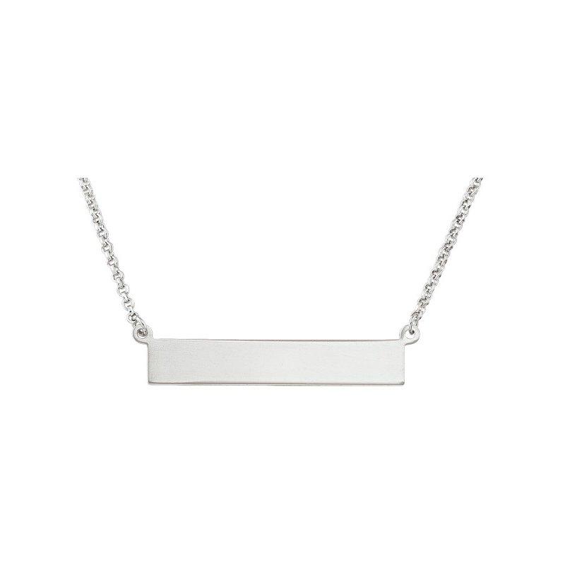 Tecimer & Johns Sterling Silver Bar Necklace