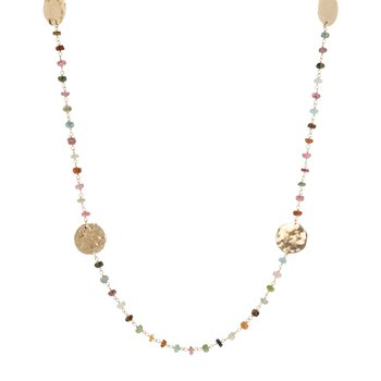 Muli-Tourmaline Long Necklace