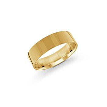 Pipe Cut Gold Band (6mm)