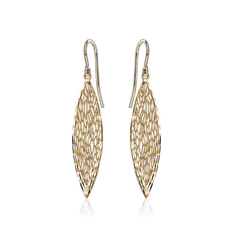 Tecimer & Johns Gold Filigree Drop Earrings