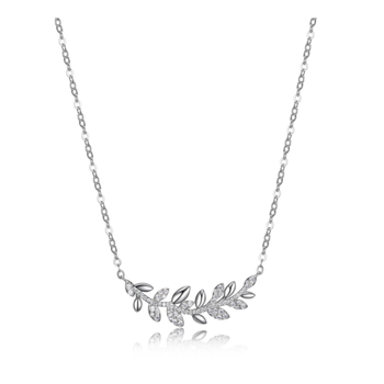 Vine Necklace with Cubic Zirconia
