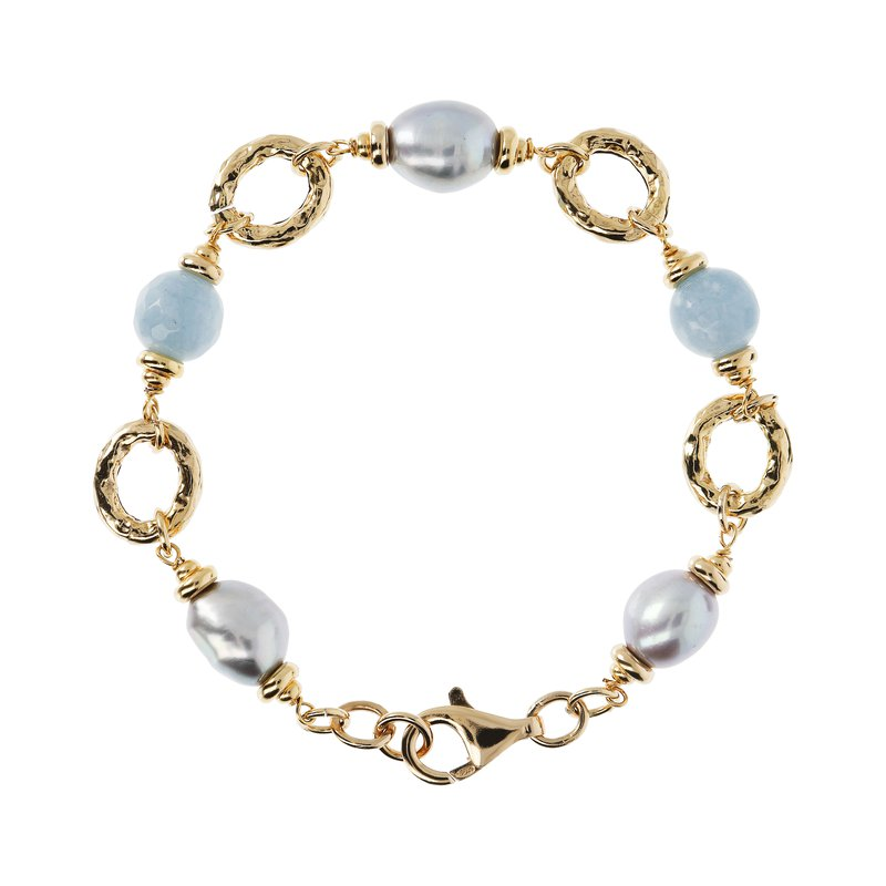 Etrusca Gioielli Pearl & Quartz Bracelet