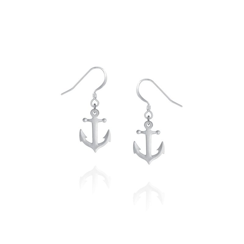 Amos Pewter Anchor Earrings