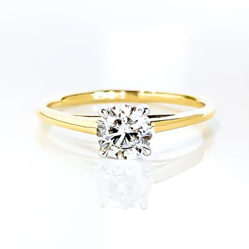 0.56CT Round Brilliant Lab Grown Solitaire Engagement Ring