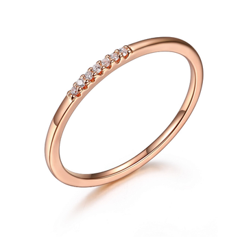 Dainty Rose Gold Plated Ring