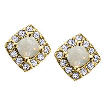 Opal Birthstone Earrings
