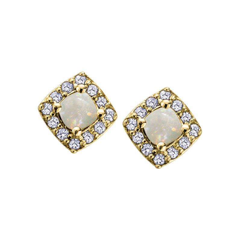 Corona Opal Birthstone Earrings